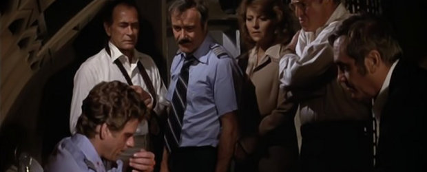 Jack Lemmon &amp; co. in Airport 77.