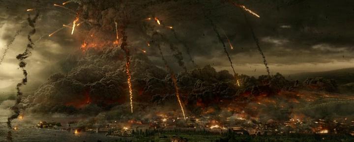 Vesuvius erupts in Pompeii.